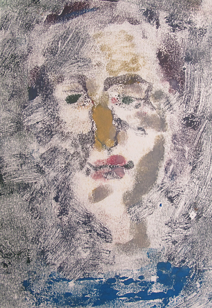 Finding Me Series, Number 2 Monotype print 30 x 20 cm, 2016, Heddy Abramowitz