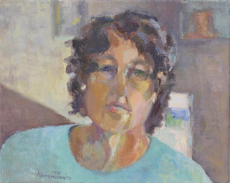 """Heddy Breuer Abramowitz  """"Being 64"""" 35 x 28 cm, oil on linen 2019"""