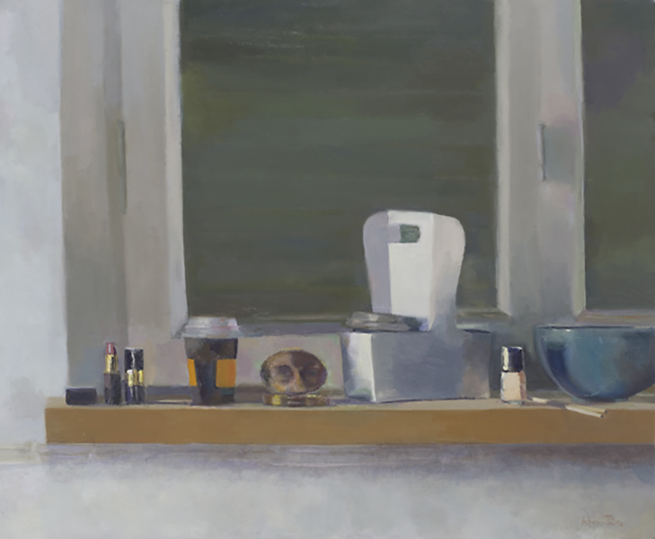 "Heddy Abramowitz ""Coffee for Two (Inheritance Series)"" 70 x 80 cm oil on linen 2009"