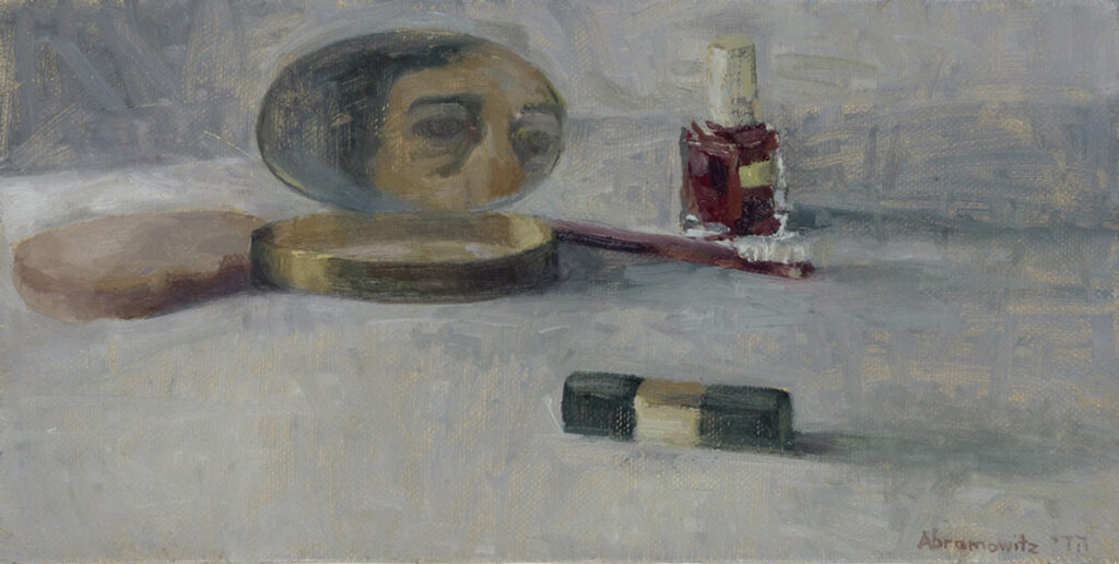 "Heddy Abramowitz ""Empty Compact (Inheritance Series)"" 20 x 30 cm oil on linen 2009"