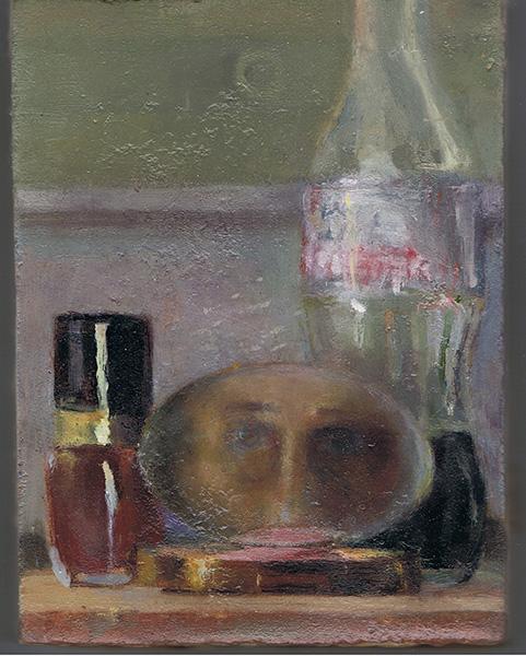 "Heddy Abramowitz ""Layers (Inheritance Series)"" 2008 20 X 15 cm oil on prepared Jerusalem stone ground"