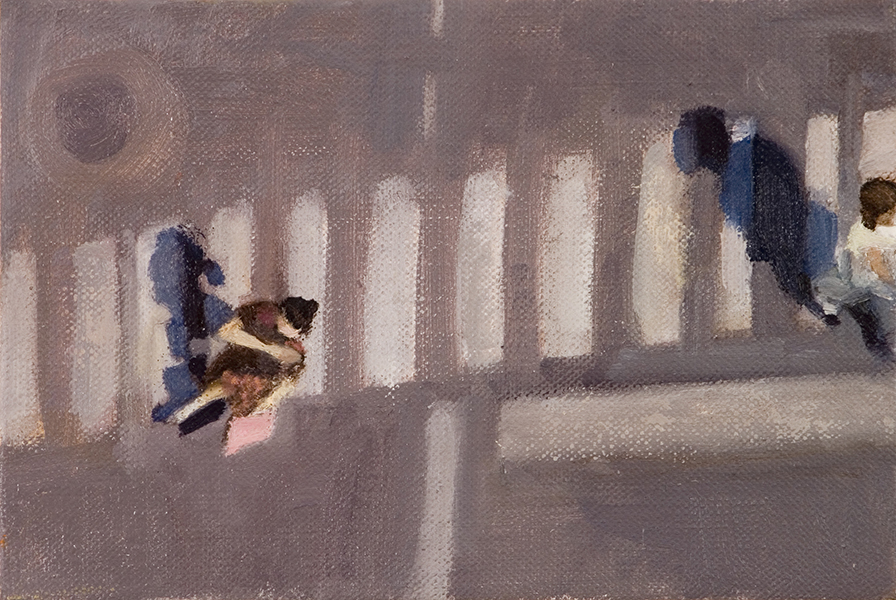 Attraction Crossings Series, oil on linen, 20 x 30 cm, 2006  Heddy Abramowitz