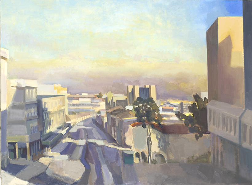 City Center Dusk , oil on linen, 80 x 100 cm, 2009 (private collection) Heddy Abramowitz