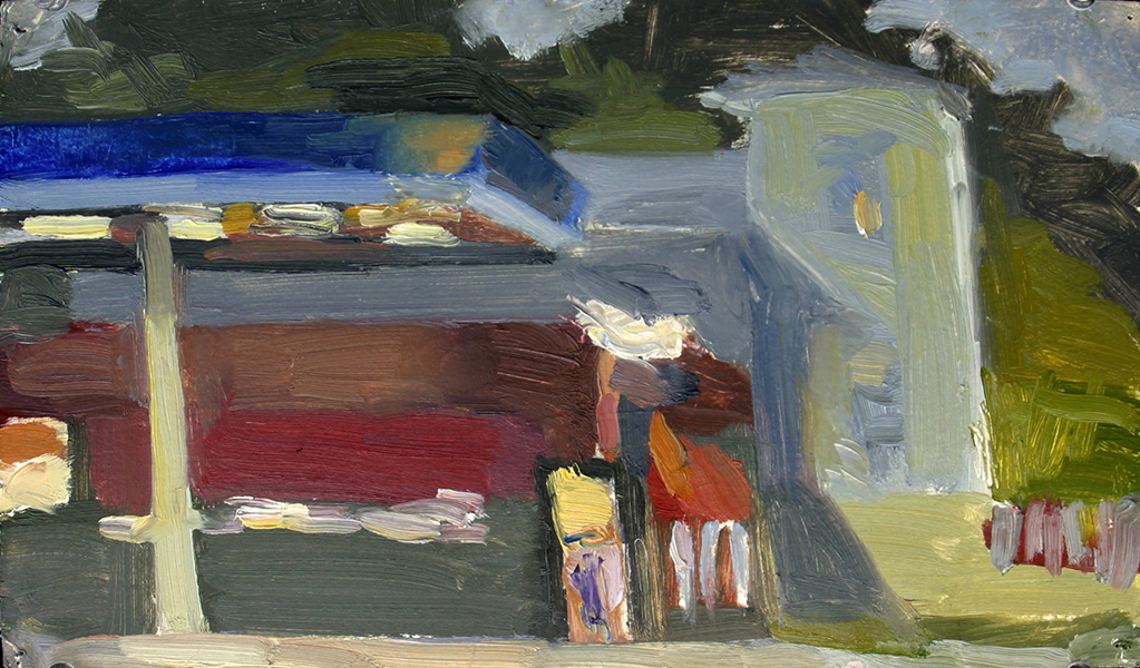 Convenience Store Vermont Series, oil on paper, 31 cm x 32.5 cm, 2004 Heddy Abramowitz