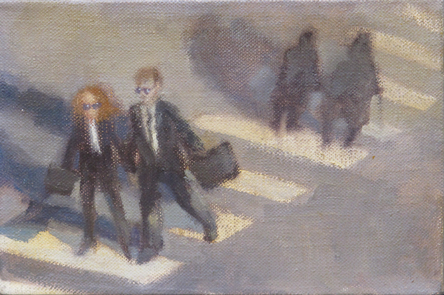 Couples  Crossings Series oil on linen 20 x 30 cm  2007 Heddy Abramowitz
