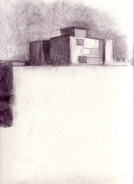 Jerusalem Apartment Building Charcoal on paper, 28 x 24 cm, 2006 Heddy Abramowitz