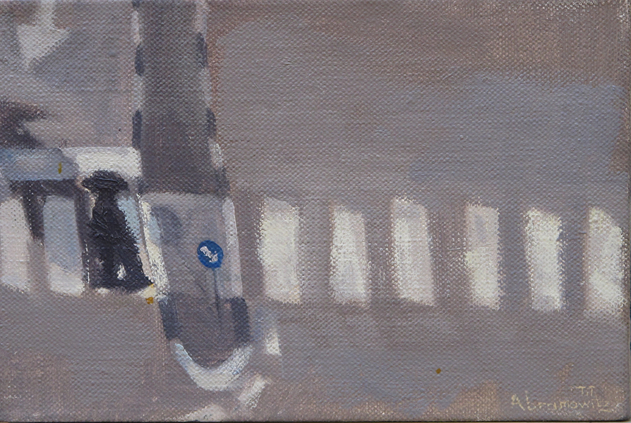 On the Path  Crossings Series, oil on linen, 20 x 30 cm, 2006