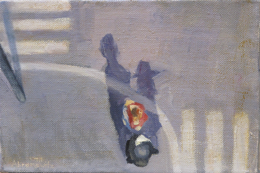 Shadow Couple Crossings Series, oil on linen, 20 x 30 cm, 2006 (private collection)  Heddy Abramowitz